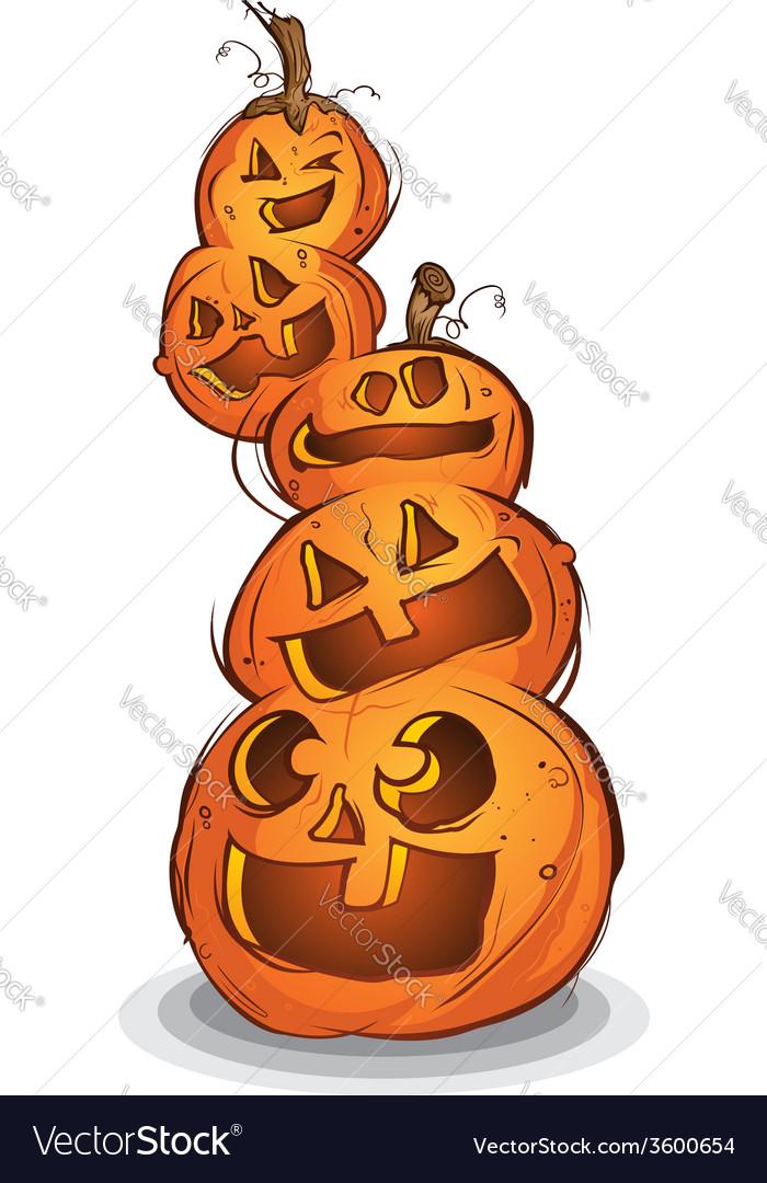 Pile of halloween pumpkin cartoon characters vector image thecheapjerseys Gallery