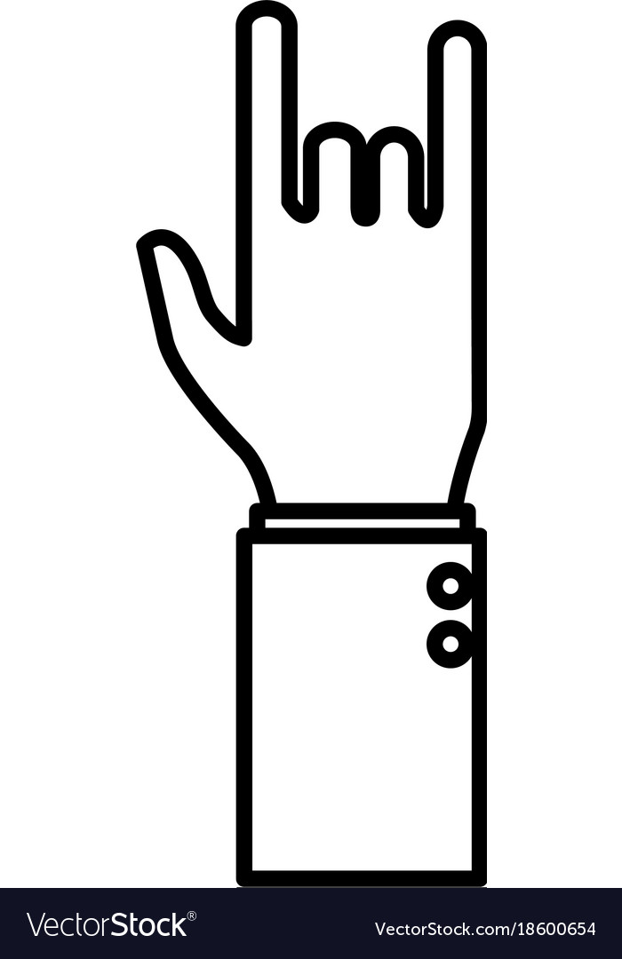 Rock And Roll Symbol Hand Royalty Free Vector Image