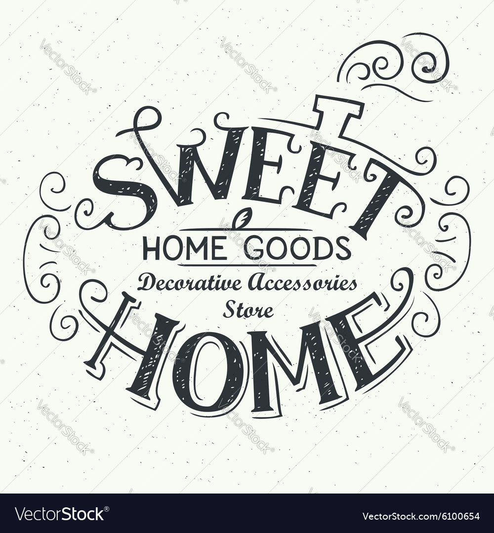 Sweet home store label design