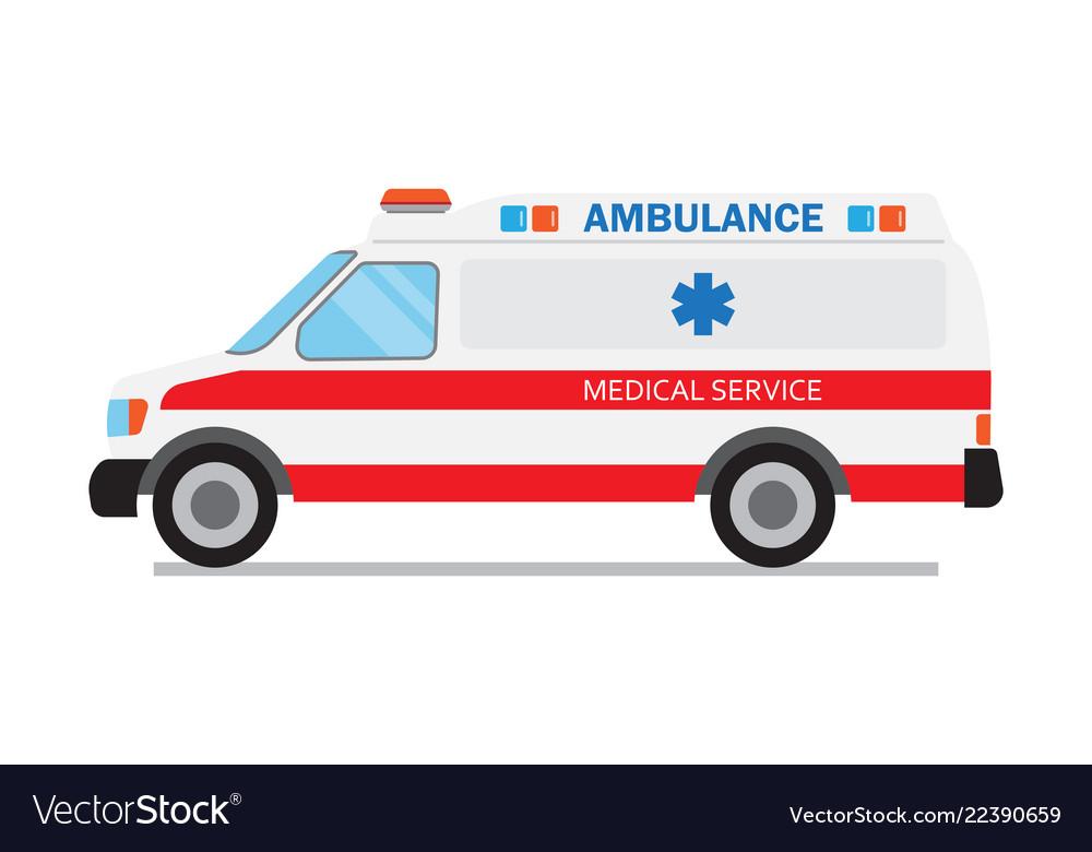 Ambulance car medical service