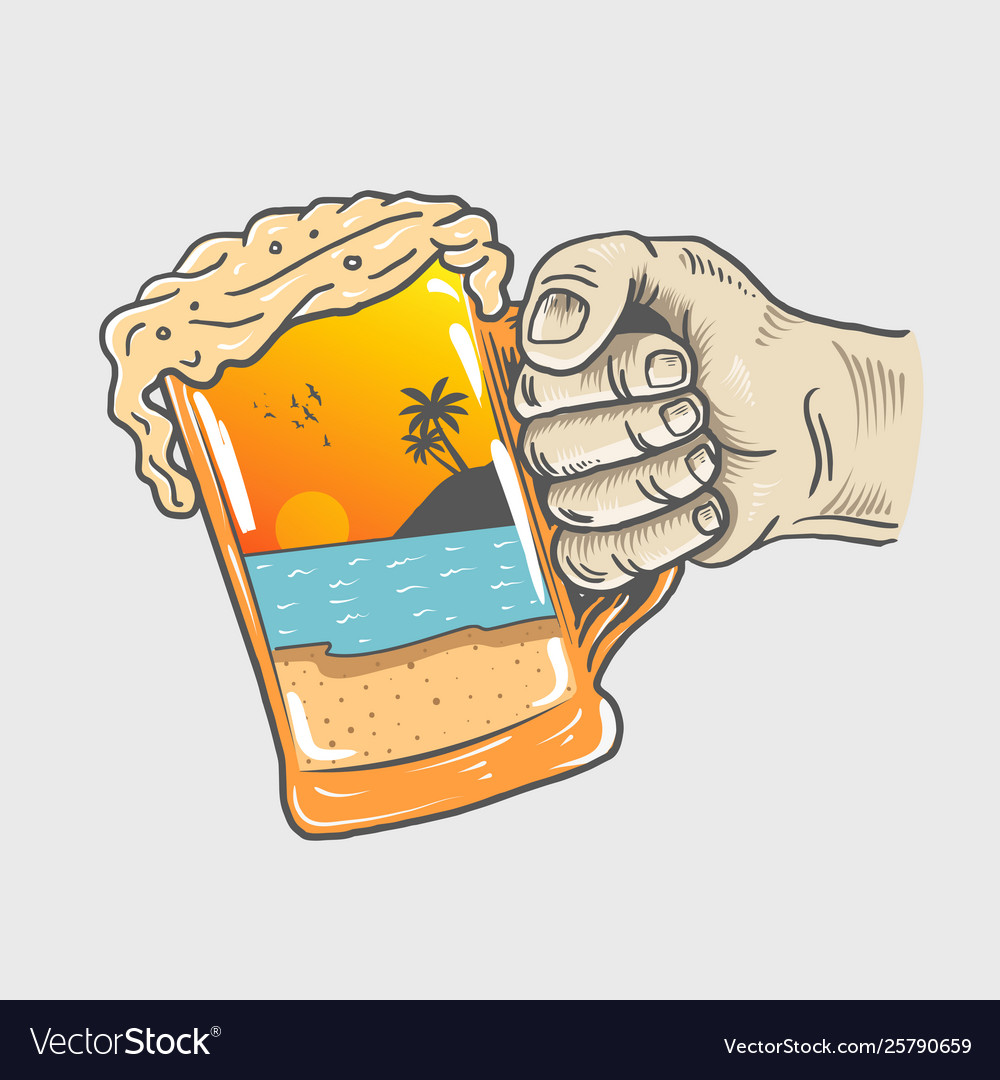Beer party hand