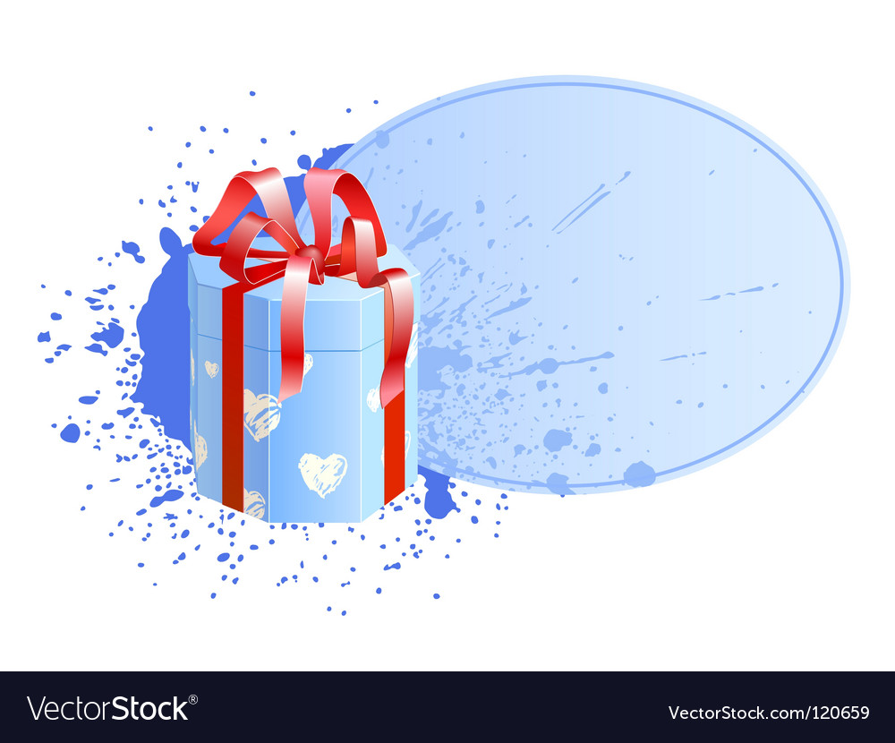 Box with vignette vector image