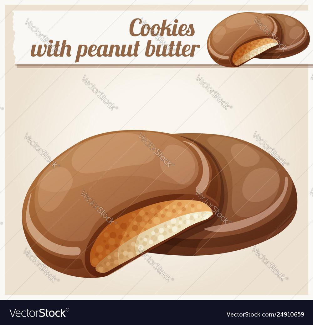 Chocolaty coating covered cookies