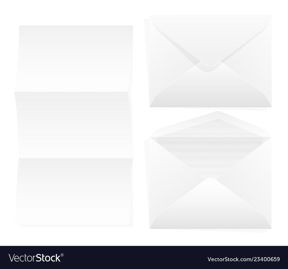 Envelope paper white rectangular paper for