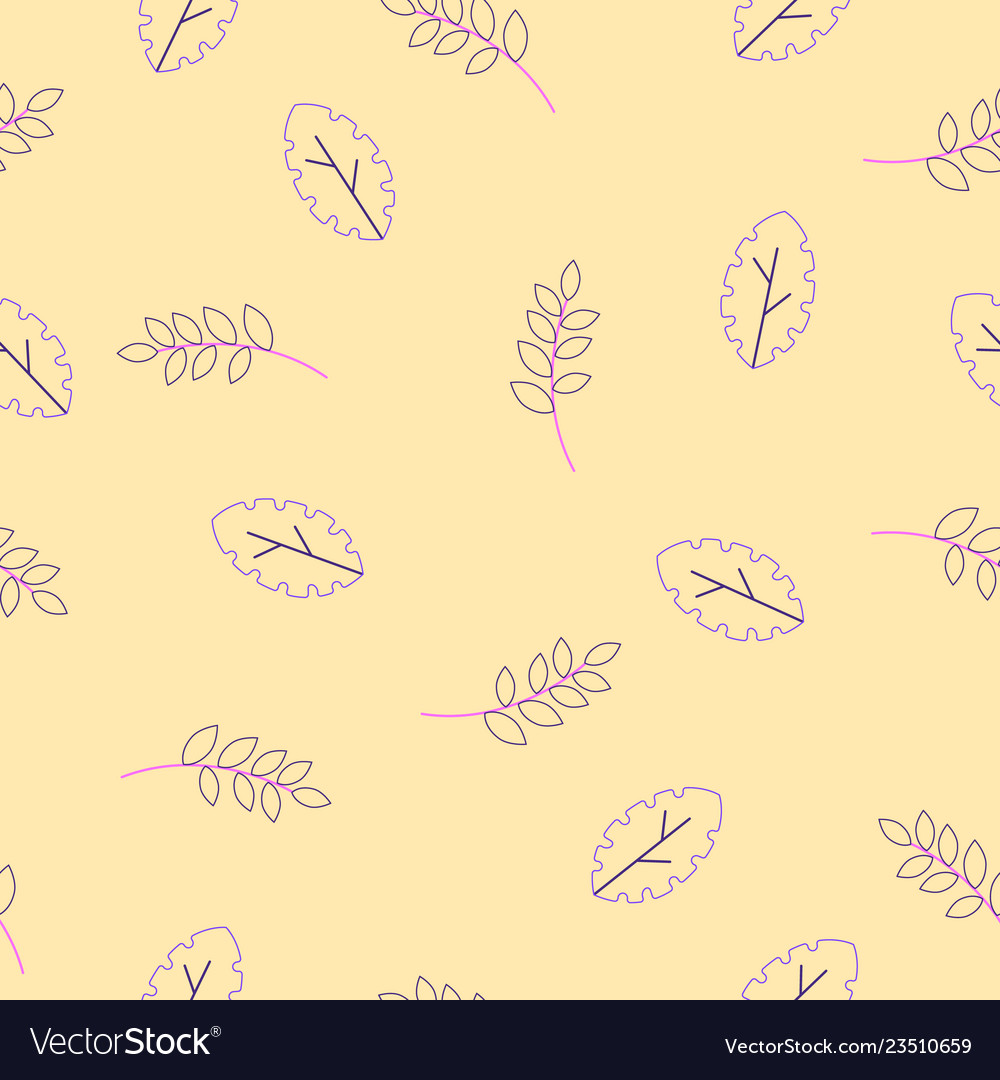 Flora seamless pattern of modern flat fantasy
