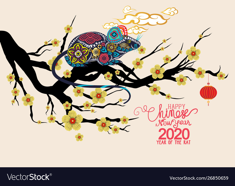 Chinese New Year 2020 Zodiac.Happy Chinese New Year 2020 Zodiac Sign With Rat