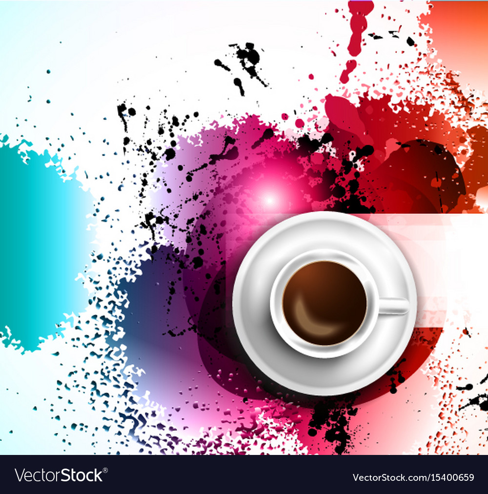 Infograph background template with a fresh coffee