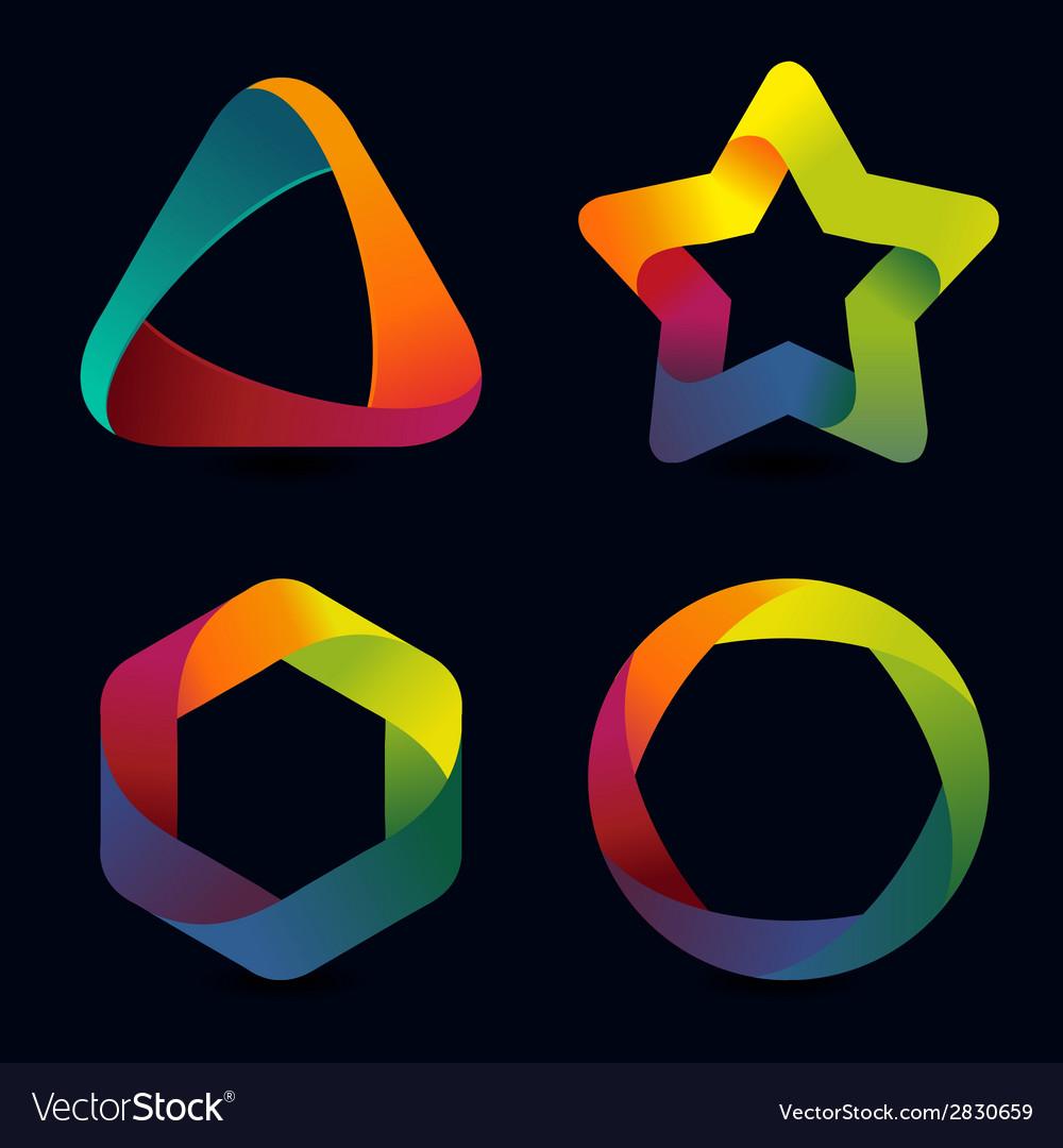 Rainbow logo templates