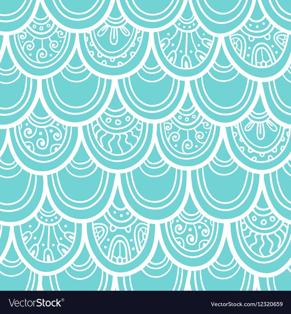 Scale seamless pattern