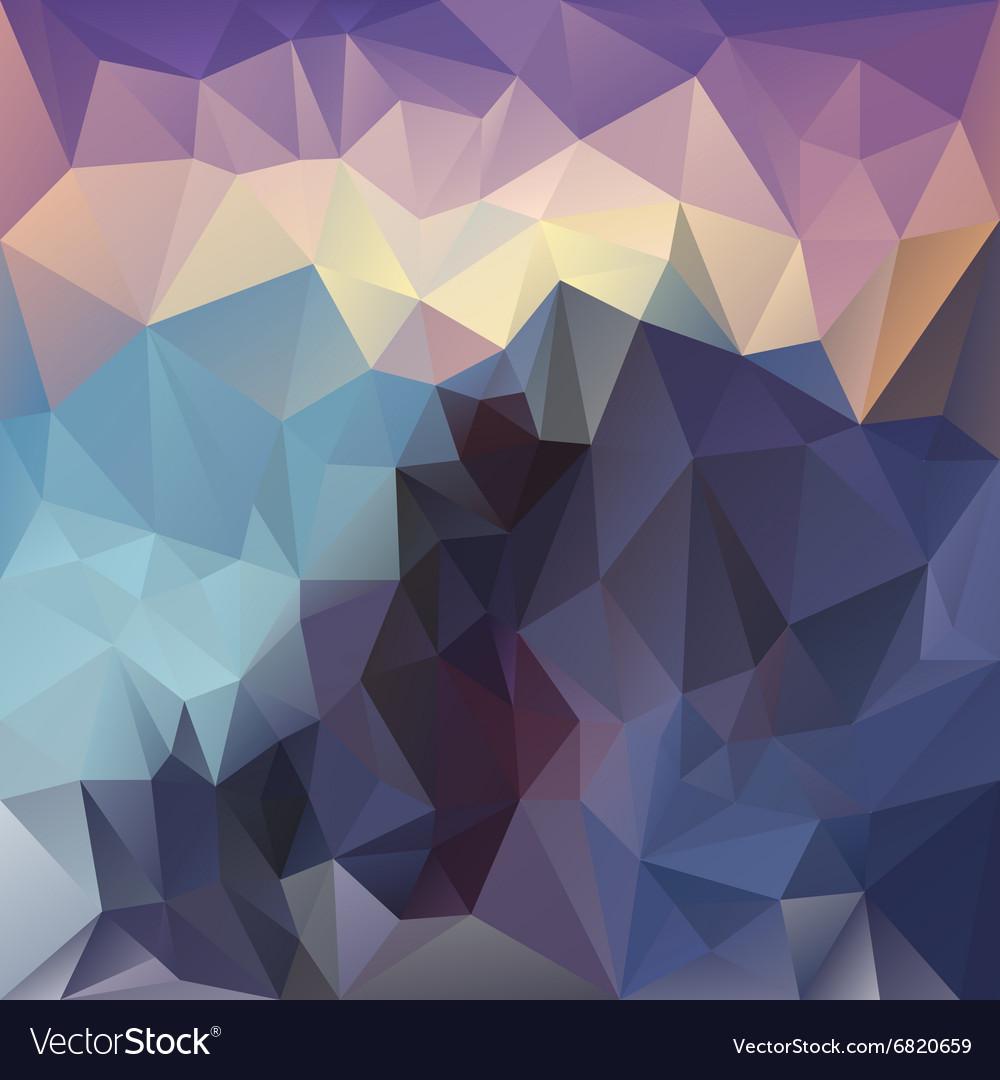 Sundown mountain polygon triangular pattern