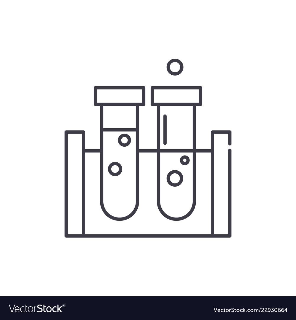 Beakers line icon concept beakers linear