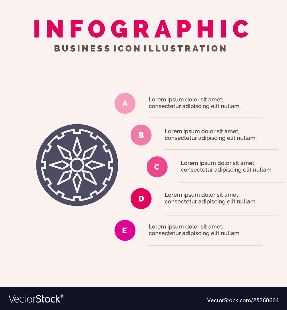 Circle country india solid icon infographics 5