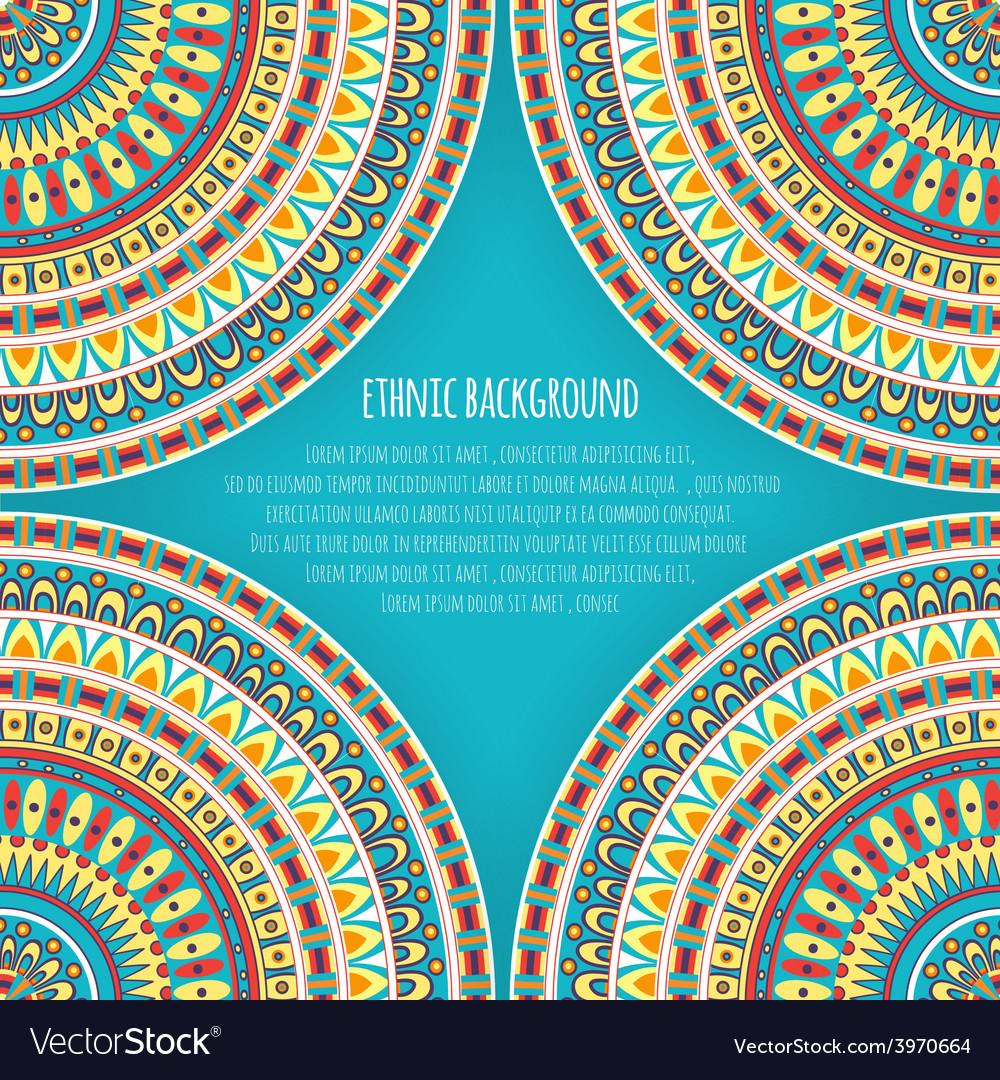 Ethnic Patterns for Background Design