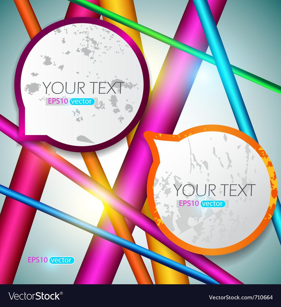 Modern speech bubbles on bright background