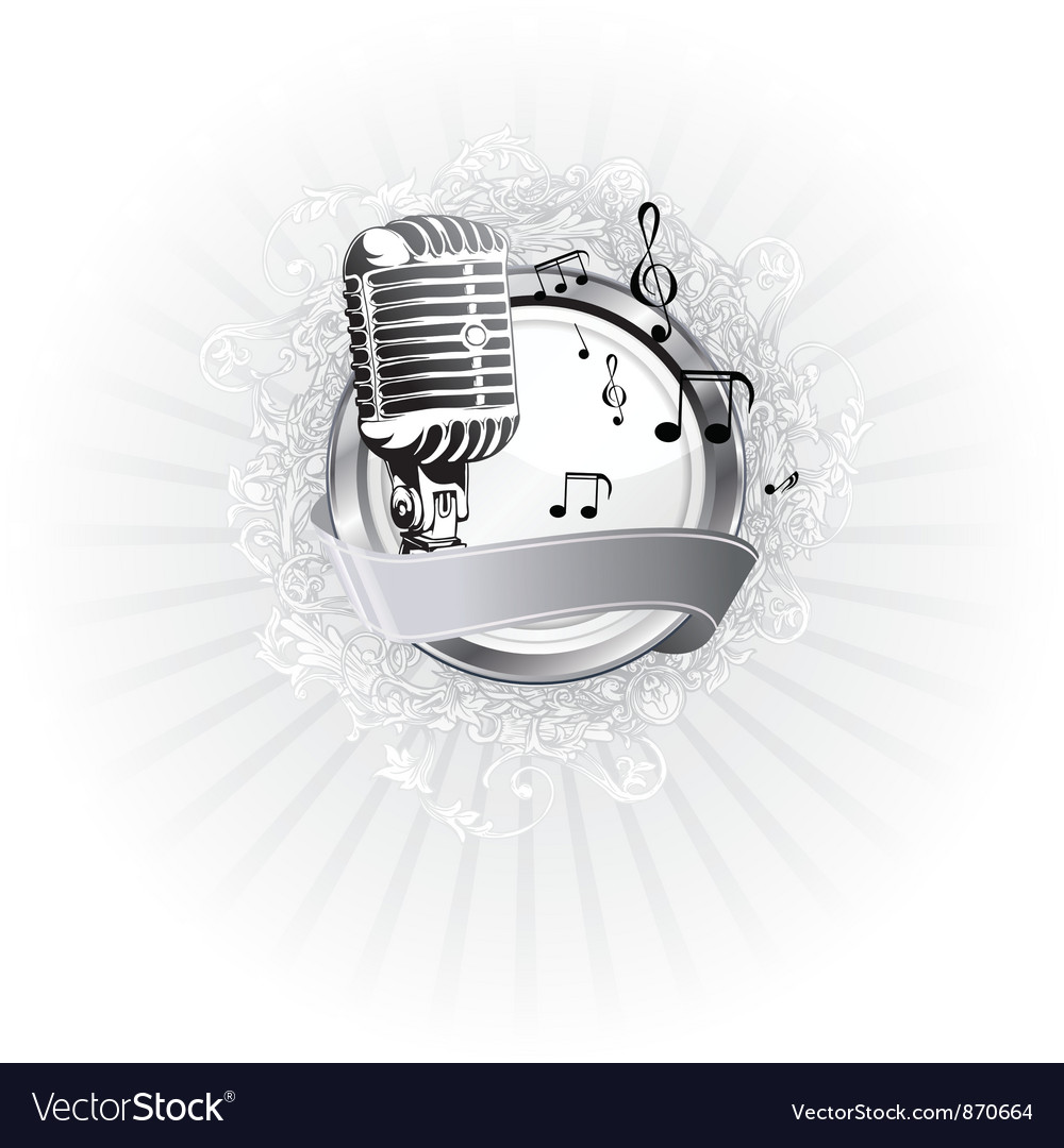 Music poster vector image