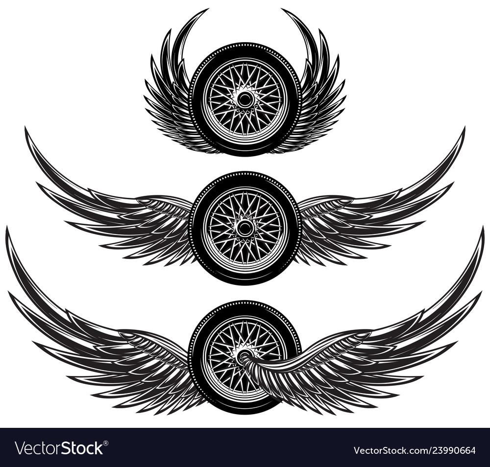 Set monochrome patterns - wheel