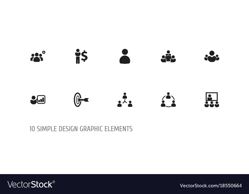 Set of 10 editable cooperation icons includes