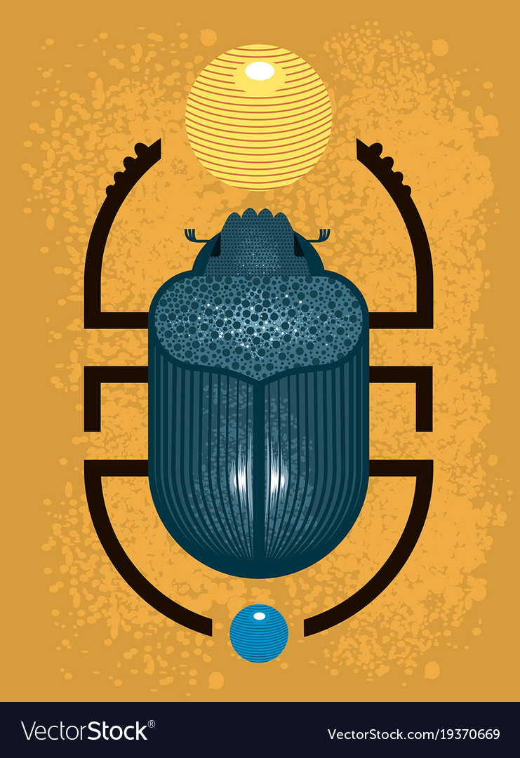 Beetle Scarab A Symbol Of Ancient Egypt Vector Image