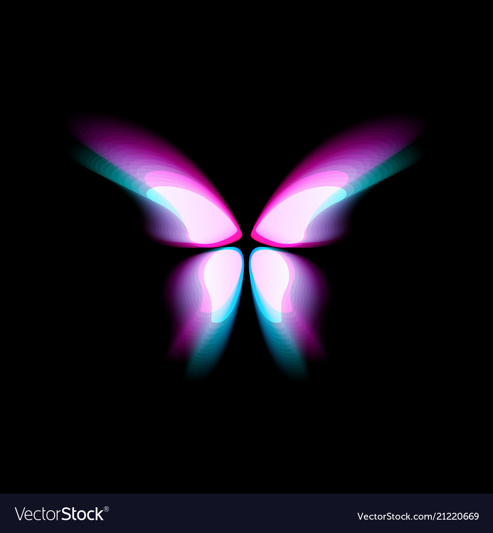 Butterfly isolated logo bright colorfull