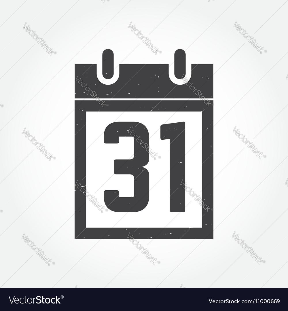 halloween calendar outline icon royalty free vector image