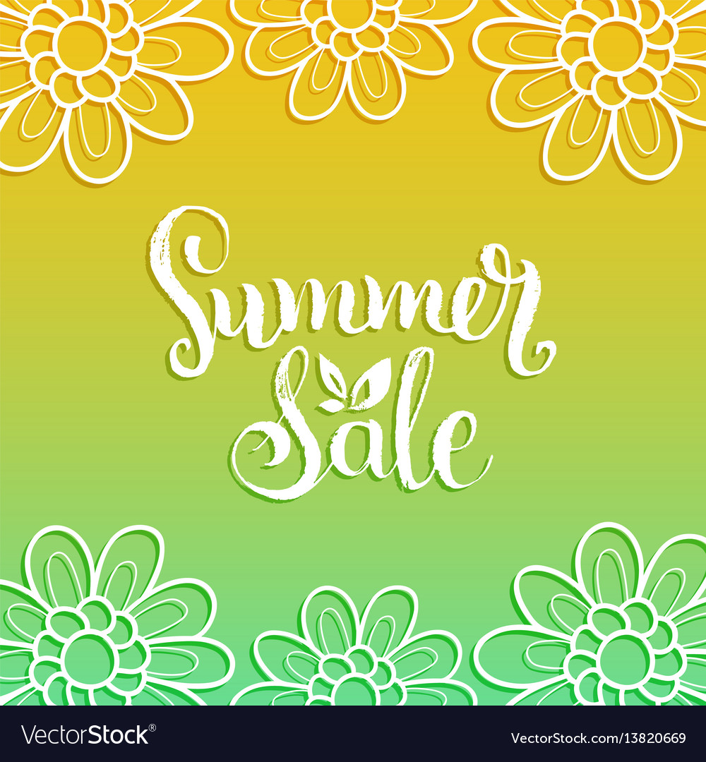 Handwritten summer sale on
