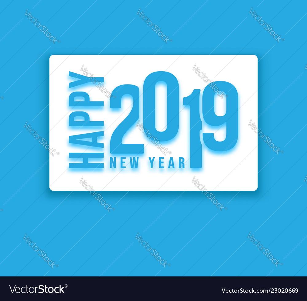 Happy 2019 new year background design