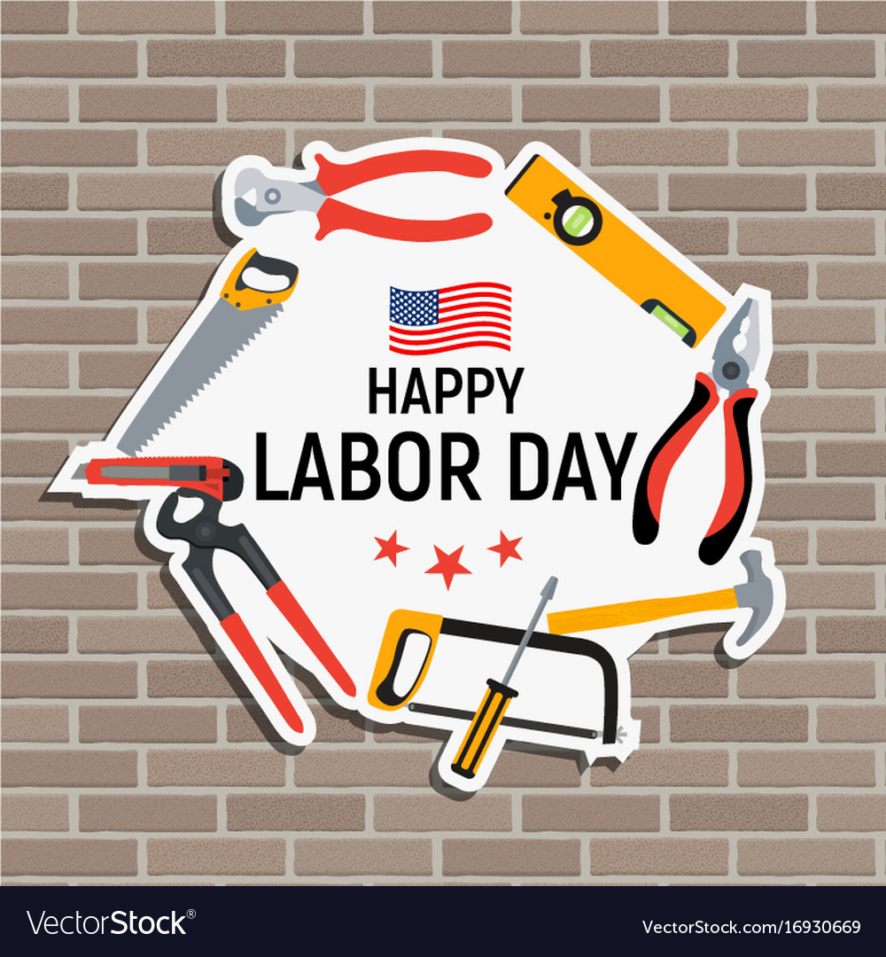 Labor day in usa poster background
