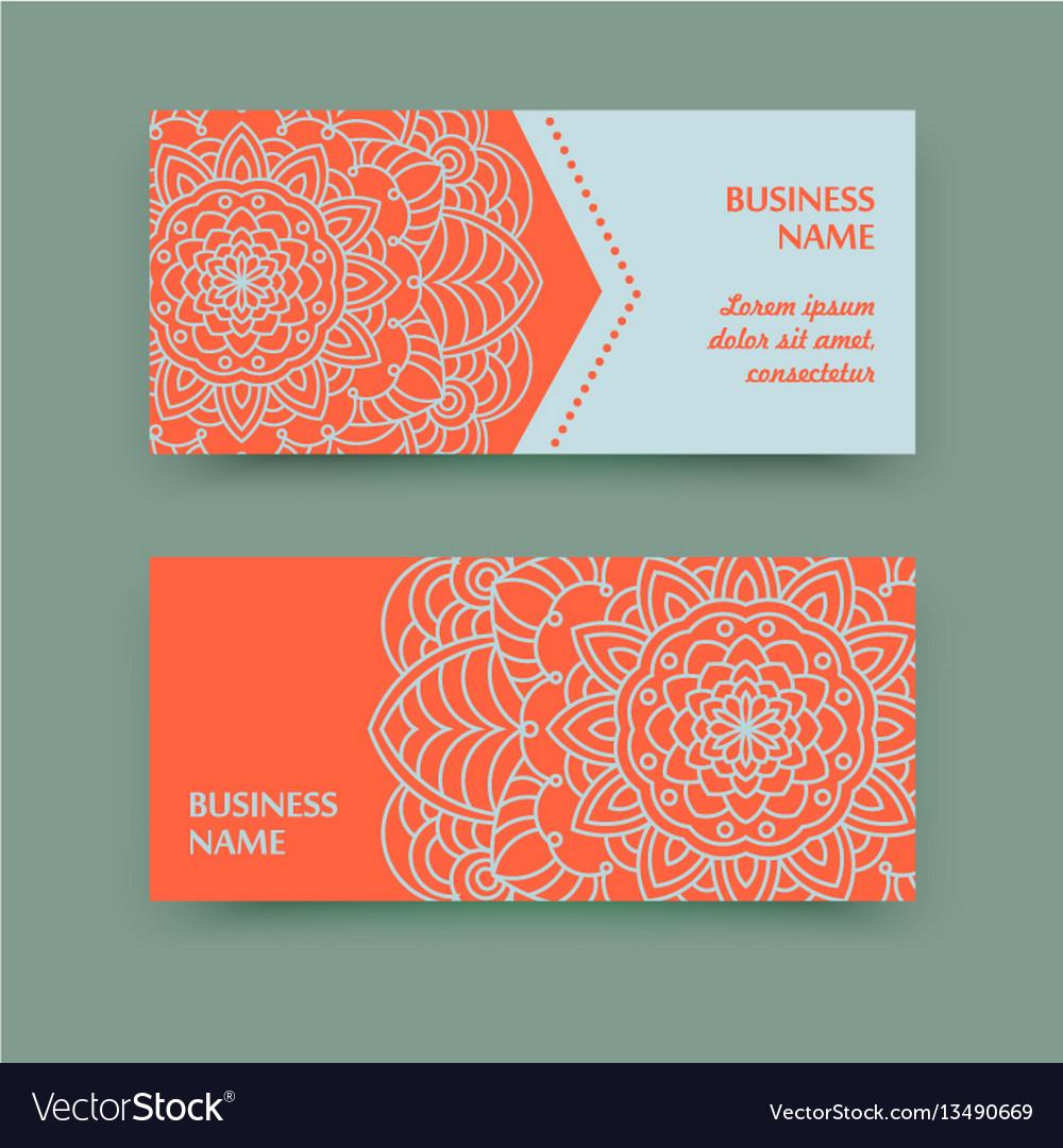 mandala calling card vector image - Calling Card