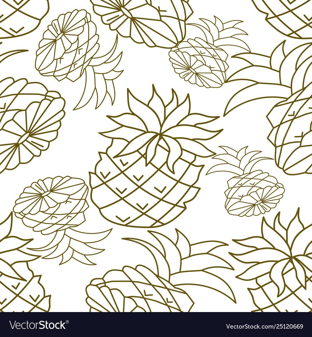 Pineapple fruit pattern seamless template