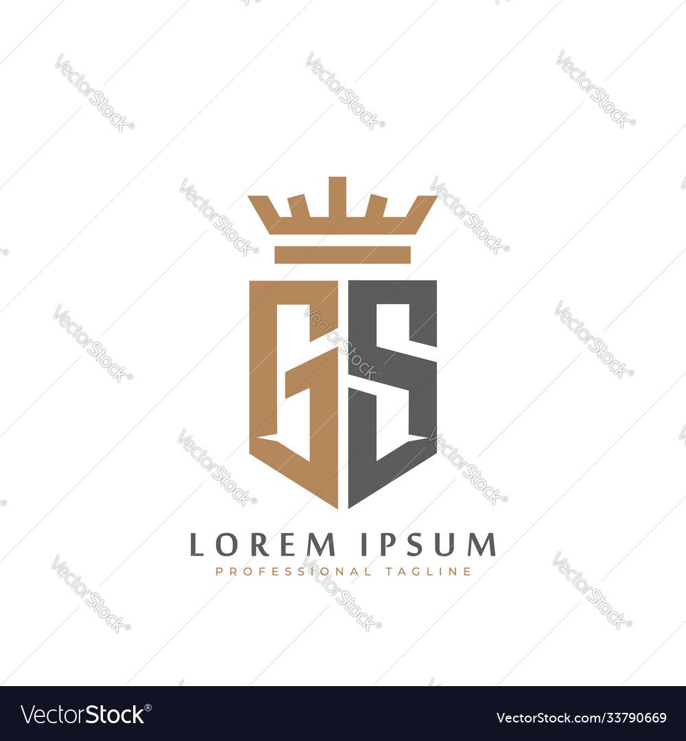 Premium gs monogram two letters gs elegant