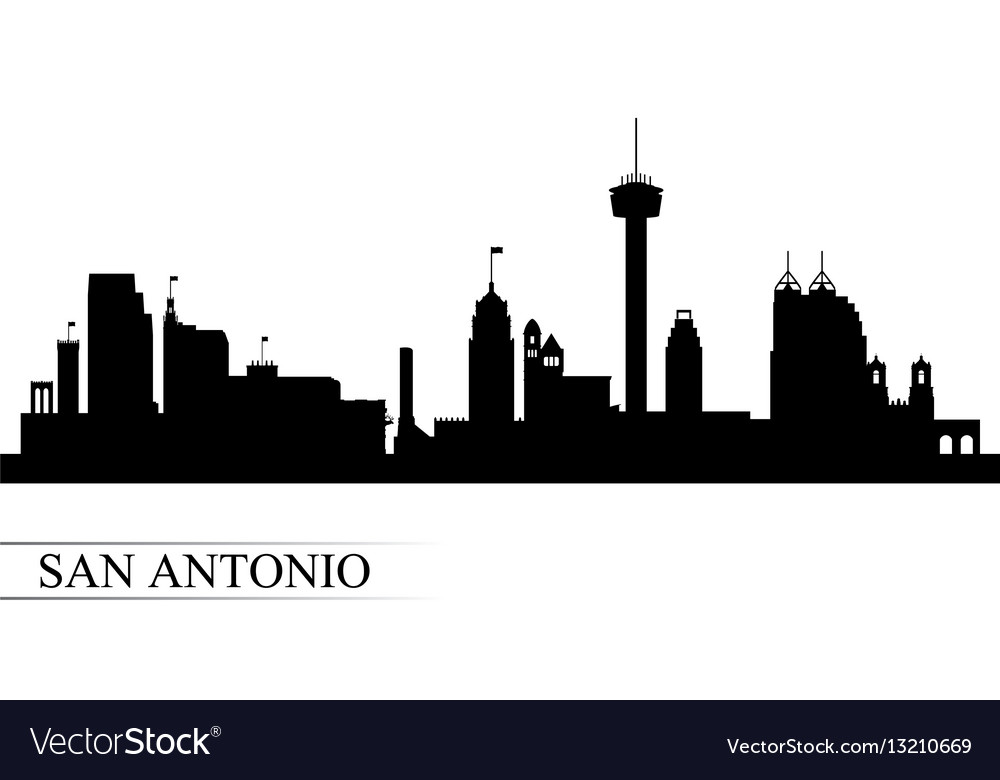 San antonio city skyline silhouette background vector image