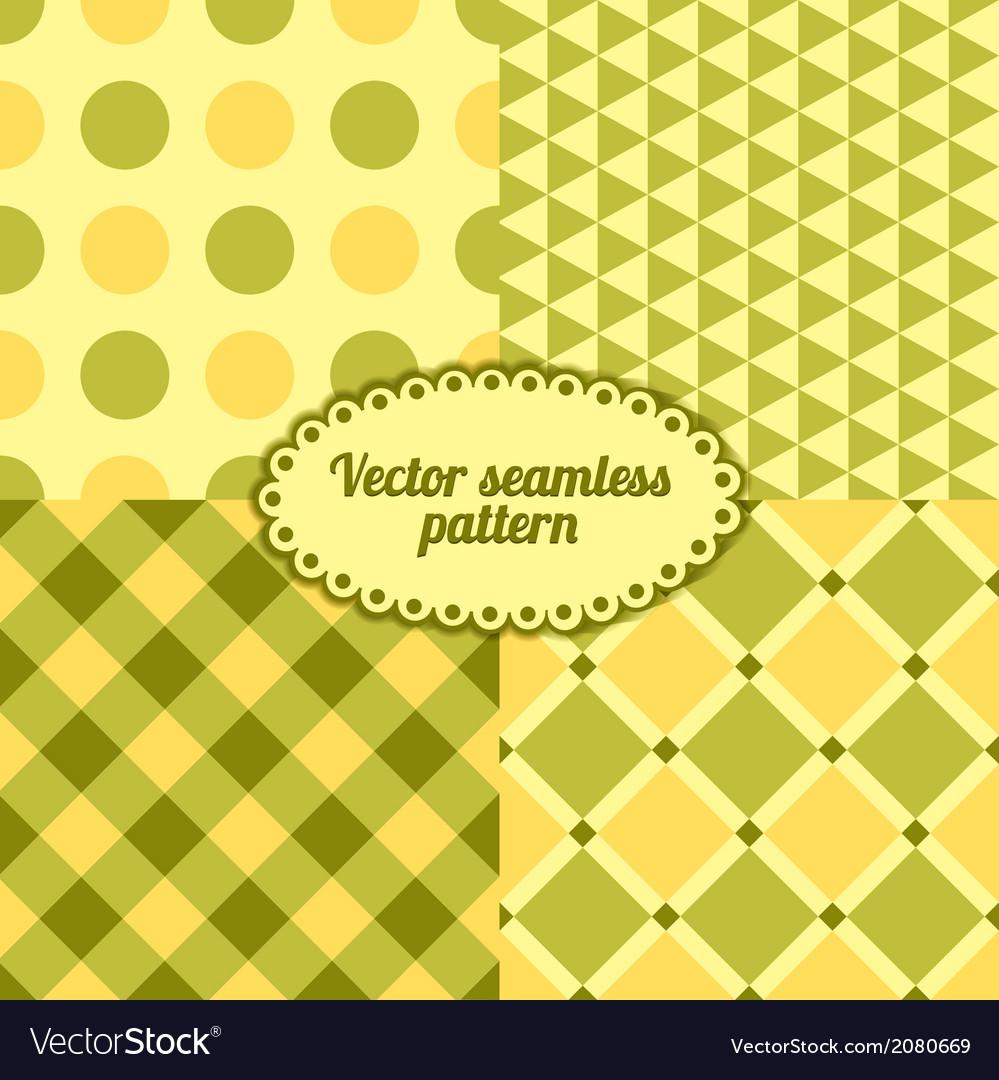 Set simple seamless pattern