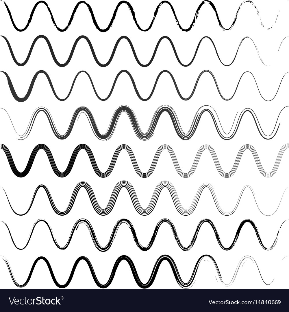 Set waves of a zigzag with rounded corners