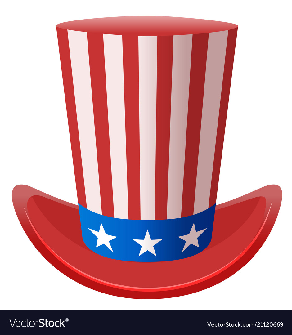 Star Striped Uncle Sam Hat Symbol United States Of