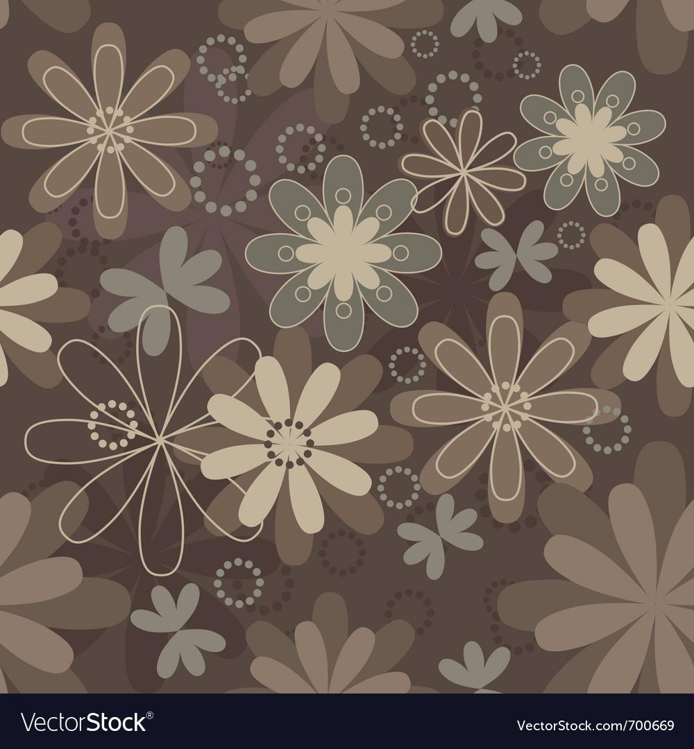 Vintage art flower vector image