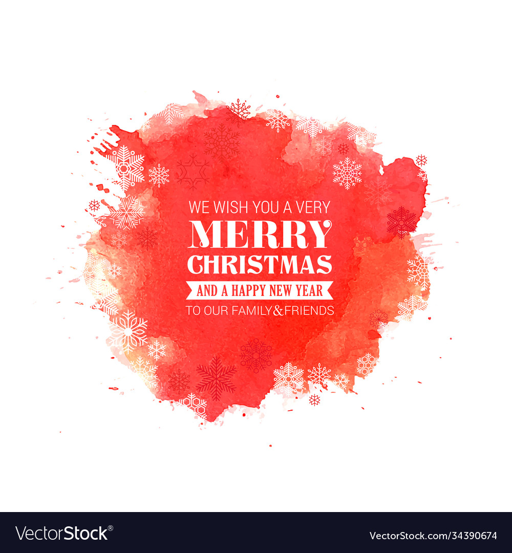 Merry christmas and new year typographical on red
