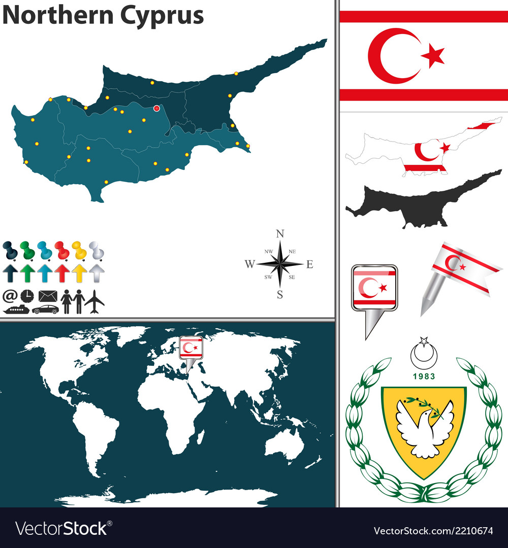 Northern cyprus map royalty free vector image vectorstock northern cyprus map vector image gumiabroncs Images
