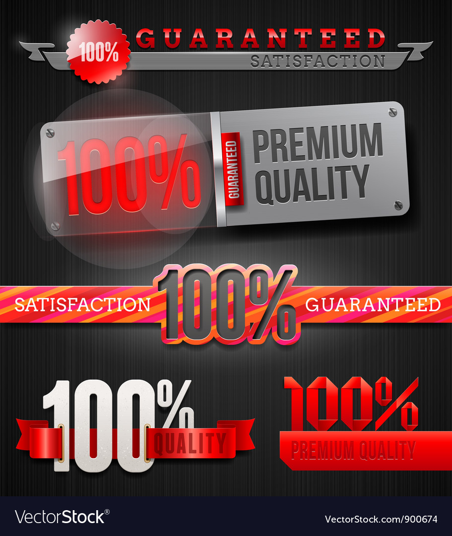 Signs and emblems of high quality labels vector image