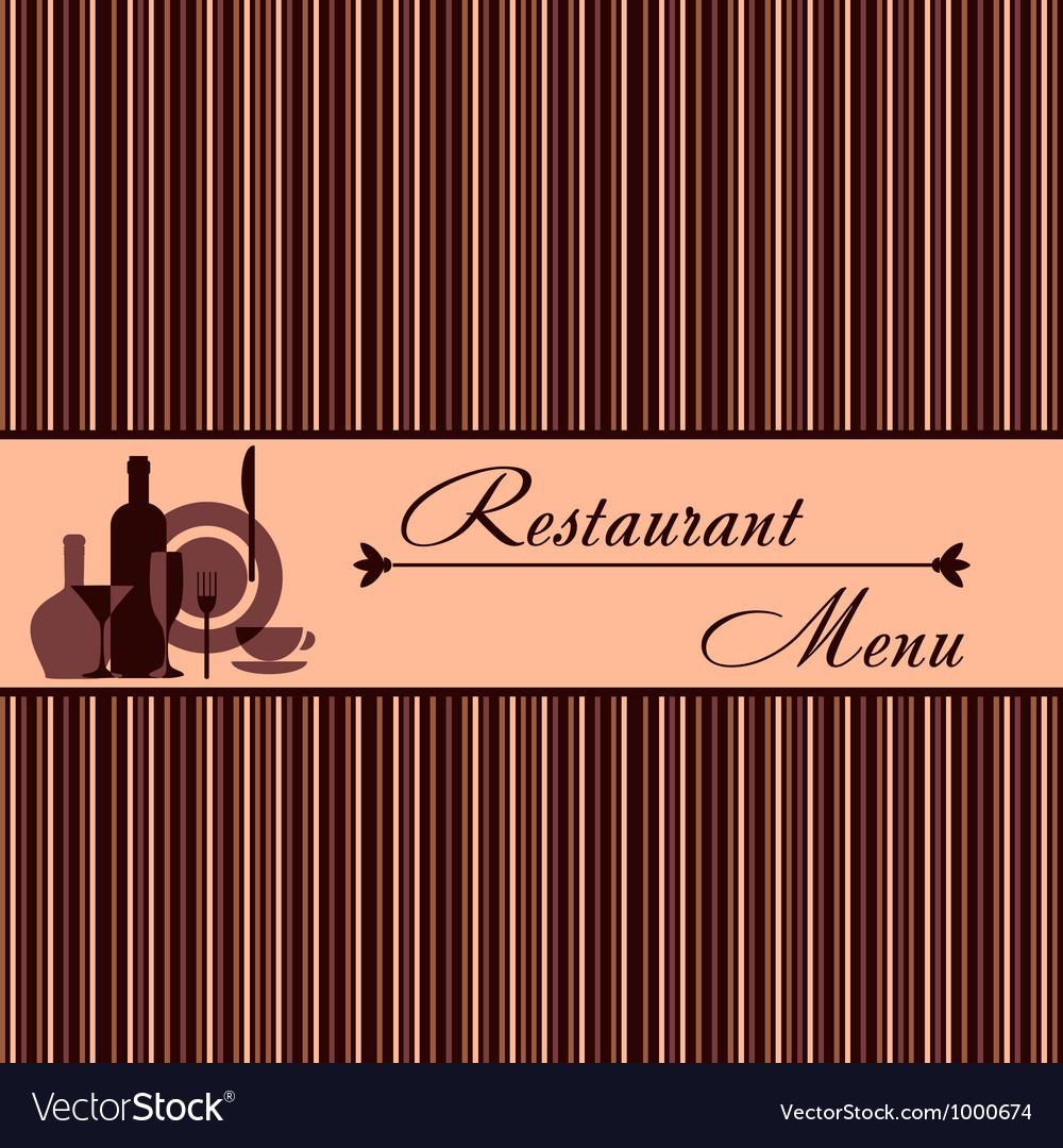 Template of restaurant menu vector image