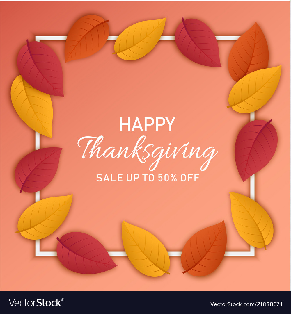 Thanksgiving sale concept banner realistic style
