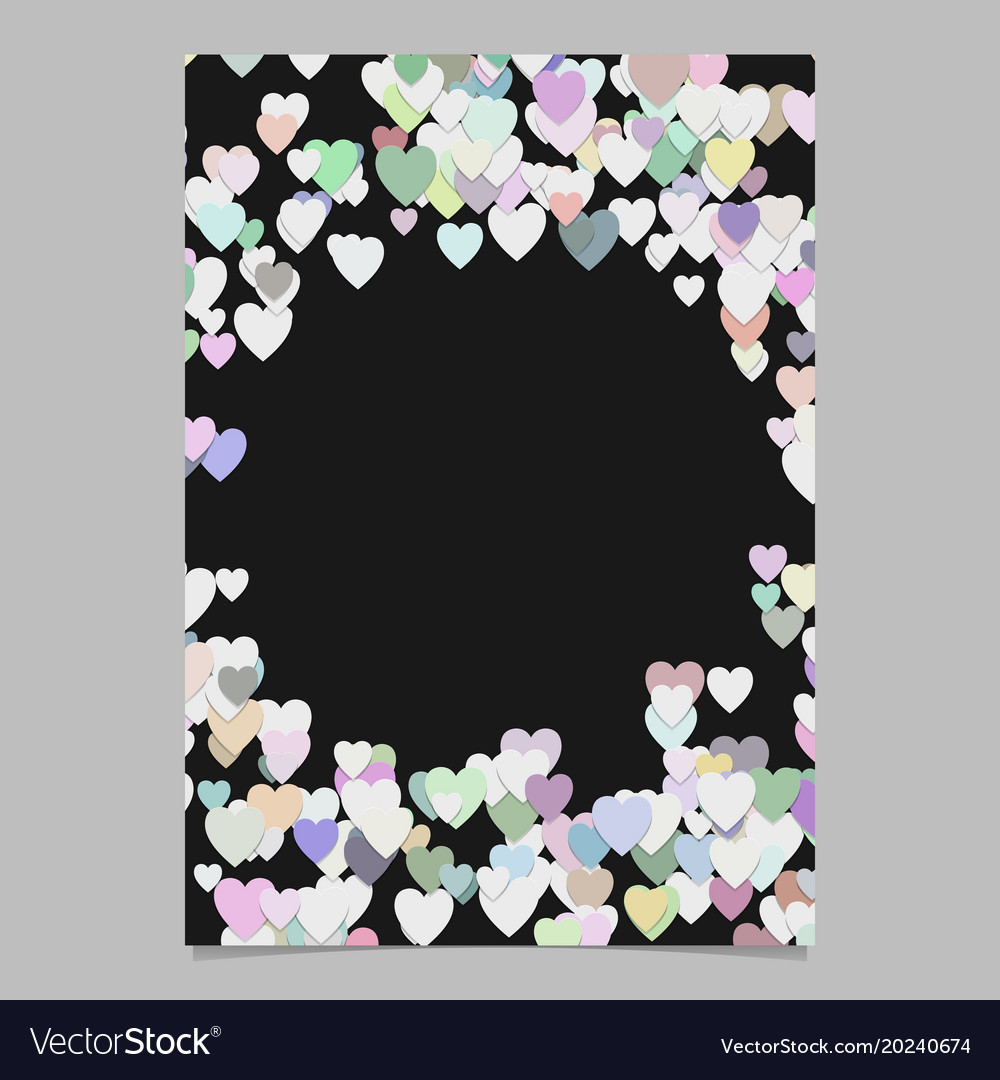 Trendy random heart brochure background template vector image