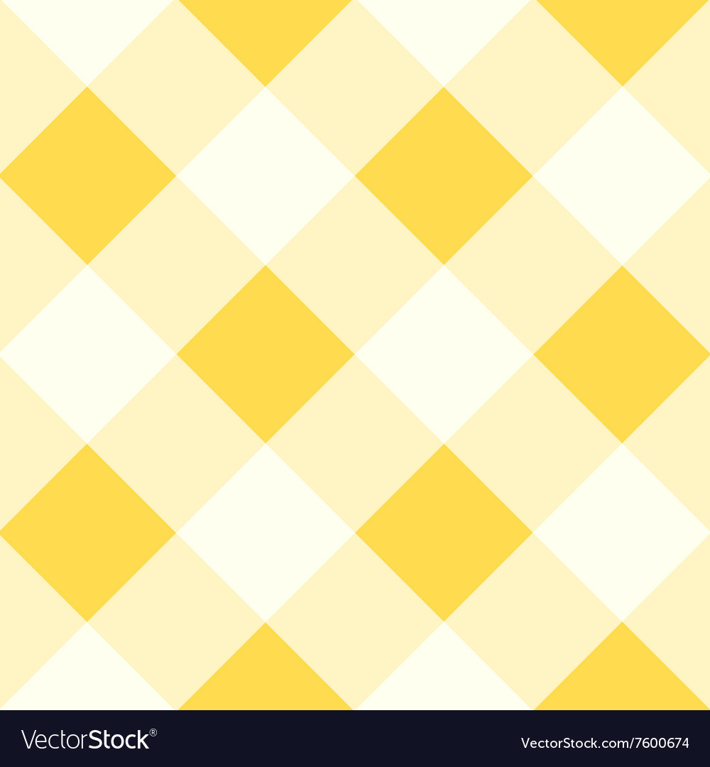Yellow White Diamond Chessboard Background