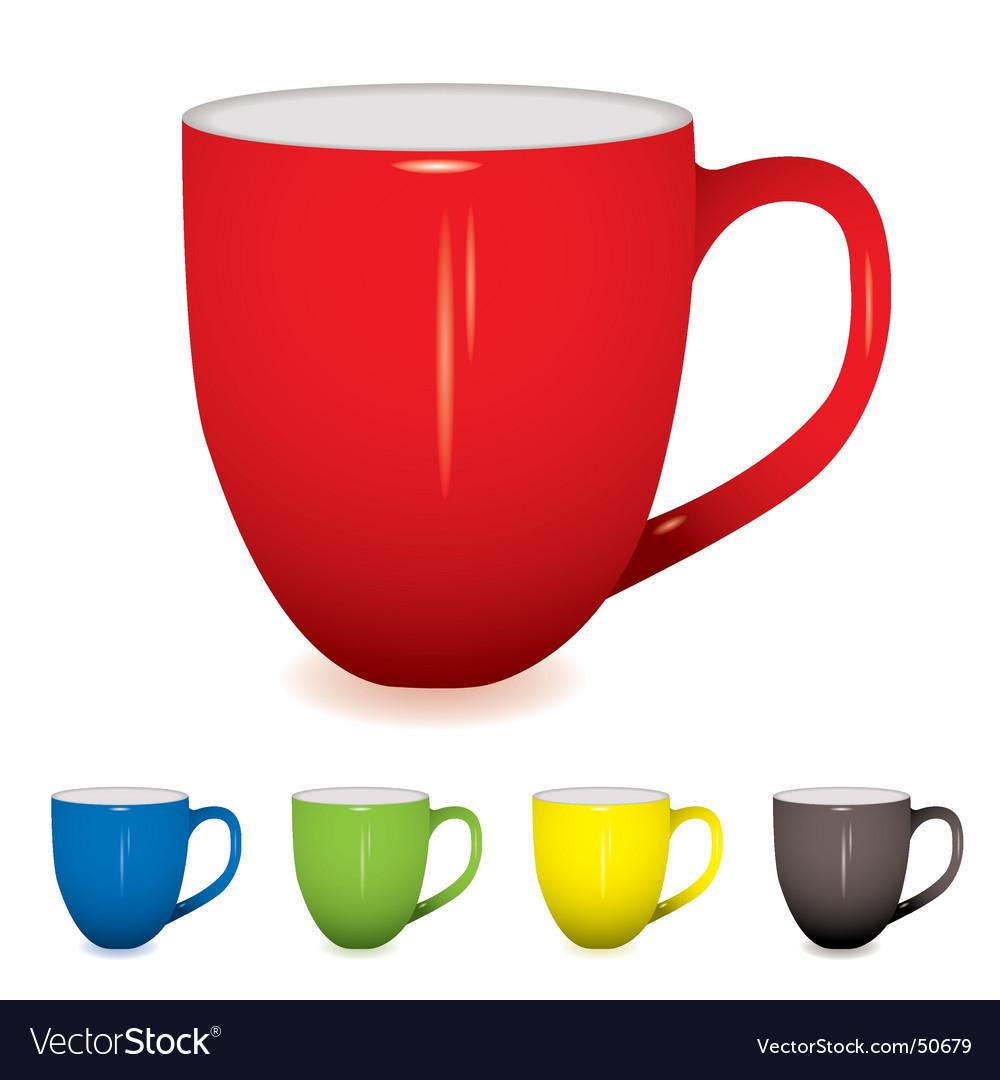 Coffee cup variation vector image