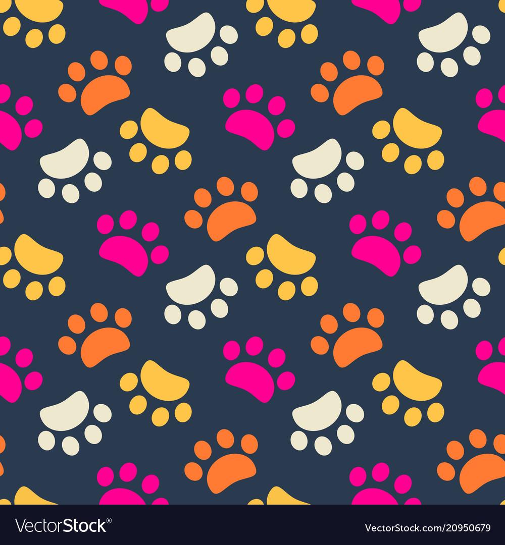 Footprint animals background