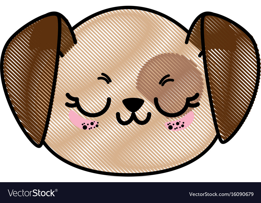 Isolated cute dog face vector image