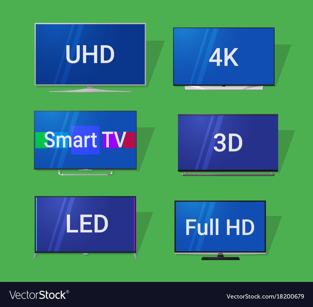 Modern tv flat icons