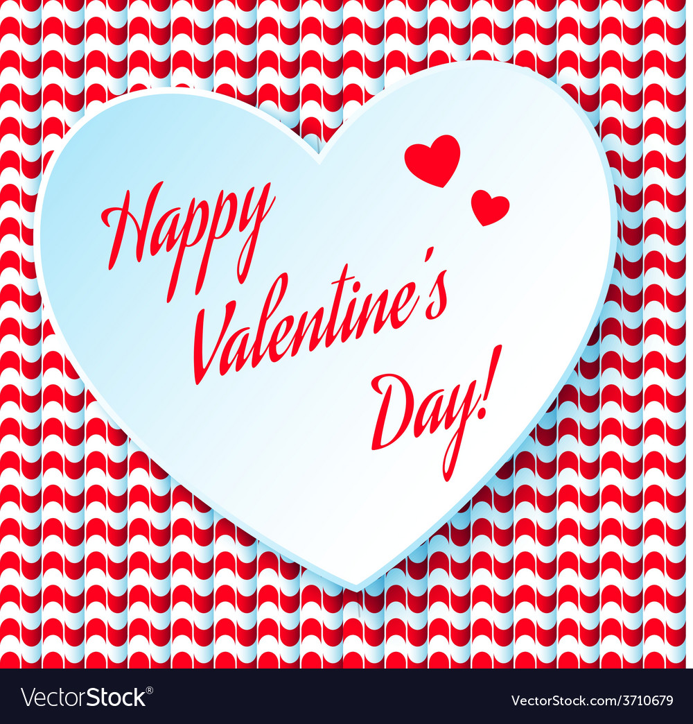 Valentines day abstract background with cut paper