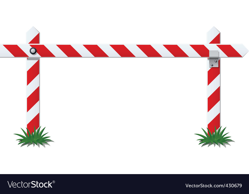 White bar with red stripe vector image