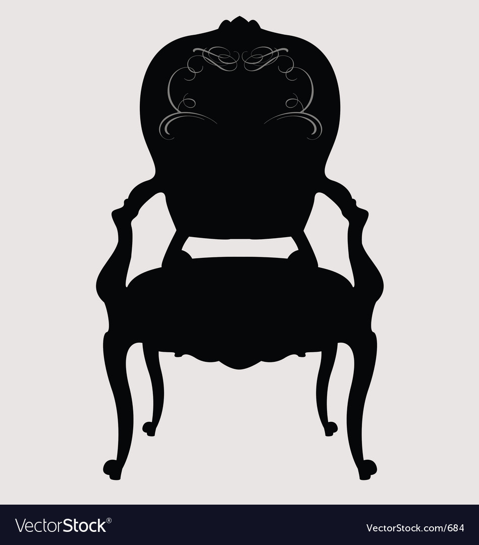 Louis Style Chair Royalty Free Vector Image
