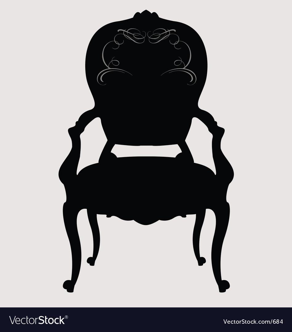 Antique louis style chair vector image - Antique Louis Style Chair Royalty Free Vector Image